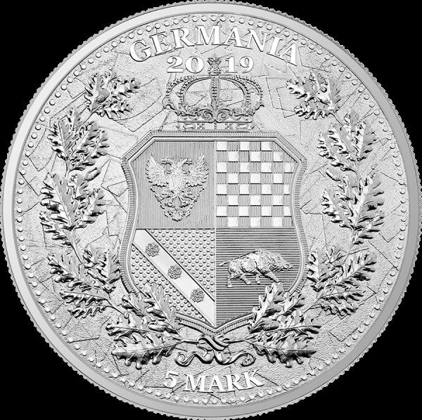 Germania 2019 5 Mark - Allegories: Columbia & Germania 1 Oz Silver BU Coin