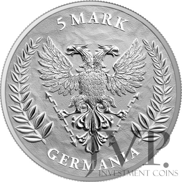 Germania 2020 5 Mark - Germania 1 Oz 999.9 Silver BU Coin