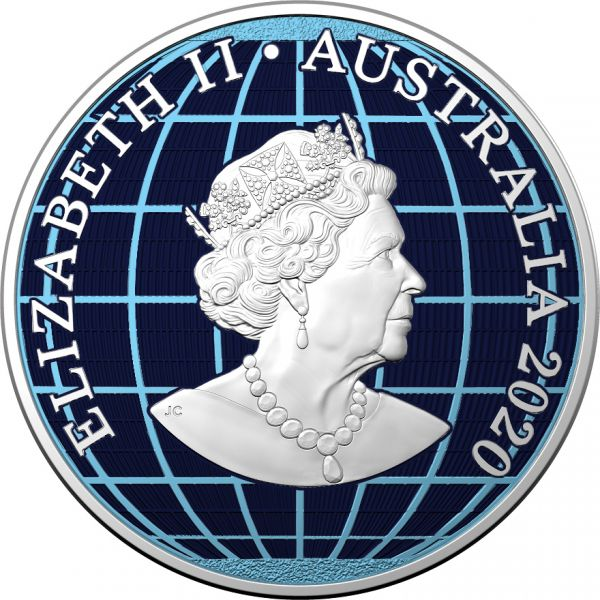 Australia 2020 1$ Beneath the Southern Skies Diamond Dust .9999 1 Oz Silver Coin