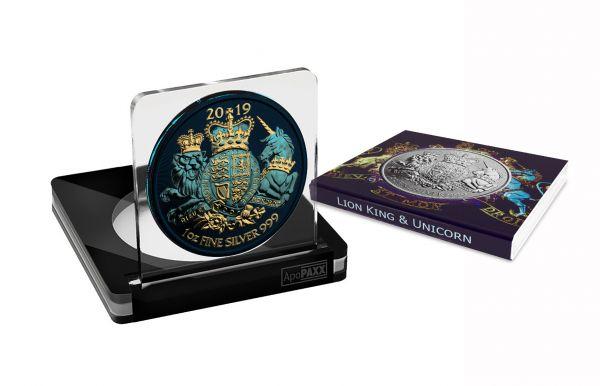 UK 2019 2£ - Royal Arms - Lion King & Unicorn - Metallic - 1 Oz Silver Coin