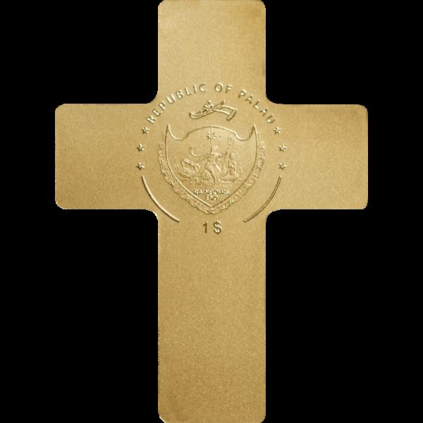 Palau 1$ - Golden Cross - 0,5g .9999 Gold Coin