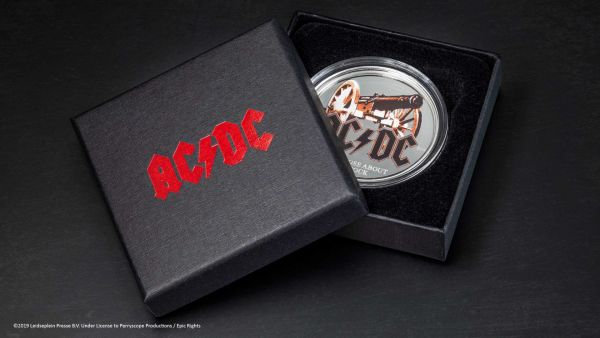Cook Islands 2019 2$ AC/DC - For Those About to Rock 1/2 Oz Proof Silver Coin