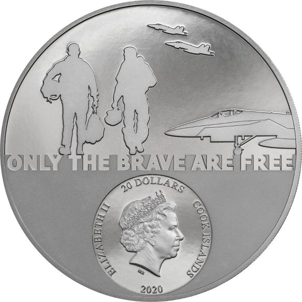 Cook Islands 2020 20$ - Fighter Pilot – Real Heroes - 3 Oz Silver Coin