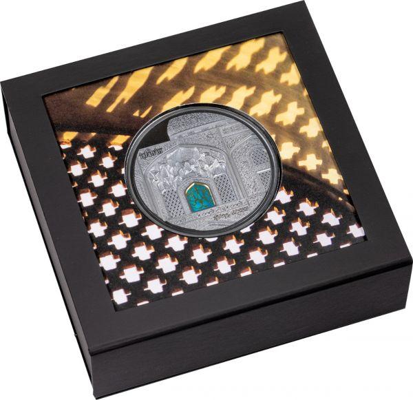 Palau 2020 25$ - Tiffany Art Isfahan – Black Proof - 5 Oz Silver Coin