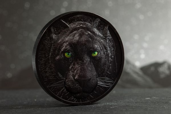 Palau 2020 10$ - Black Panther – Hunters by Night - 2 Oz Silver Coin