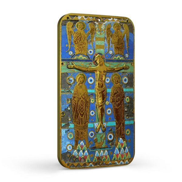 Niue 2014 $2 World Heritage - Crucifixion of Jesus Christ - 1 Oz Gilded Silver Coin