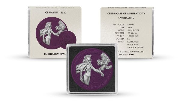 Germania 2020 5 Mark Germania - Space Pink - 1 Oz Silver Coin