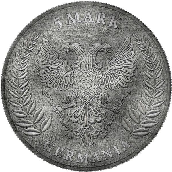 Germania 2019 5 Mark Germania - Antique & Color - 1 Oz Silver Coin