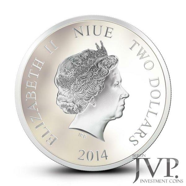 Niue 2014 $2 Disney Mickey & Friends - Goofy - 1 Oz Silver Coin