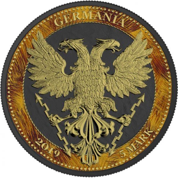 Germania 2019 5 Mark The Oak Leaf - Zoo Series - Lion - 1 Oz Silver Coin