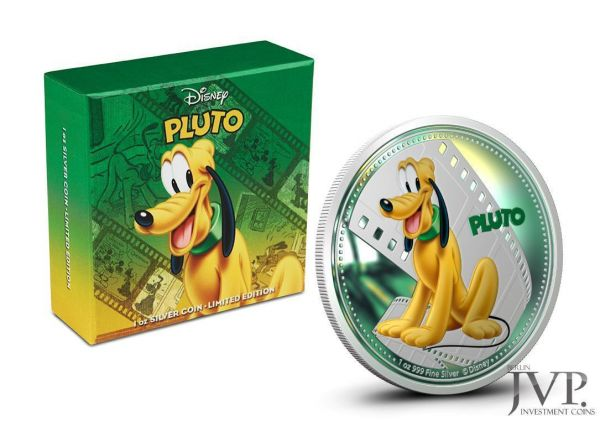 Niue 2014 $2 Disney Mickey & Friends - Pluto - 1 Oz Silver Coin