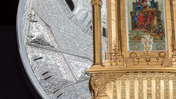 Armenia 2020 30100 Dram - Cathedral of Holy Etchimiadzin Kilo - 1 kg Silver Coin