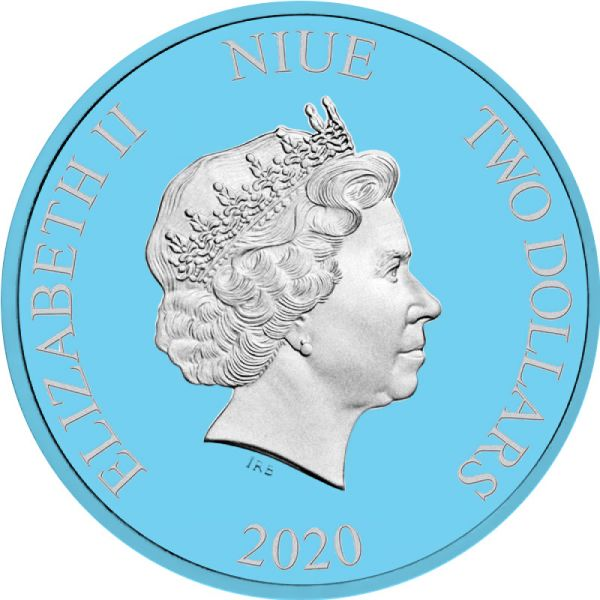 Niue 2020 2$ Star Wars Boba Fett 1 Oz 999 Coloured Fine Silver Coin