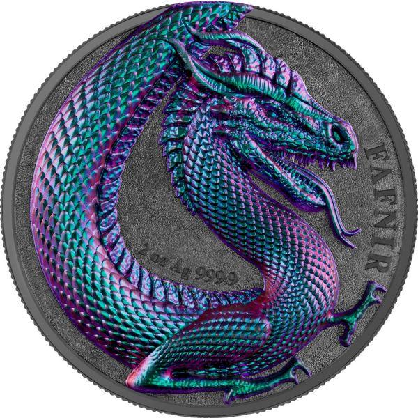 Germania 2020 10 Mark - Fafnir - 2 Oz High-Relief Silver Coin