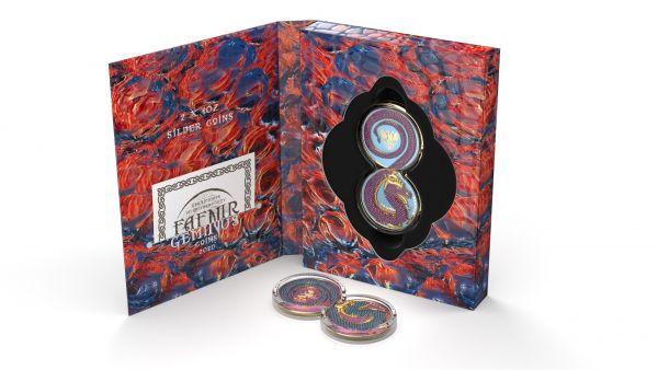 Germania 2020 2x5 Mark - Fafnir Set - Fafnir Crystals - 2 x 1 Oz Silver Coins