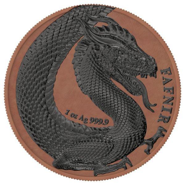 Germania 2020 2x5 Mark Fafnir Set - Terracotta & Ruthenium 2 x 1 Oz Silver Coins