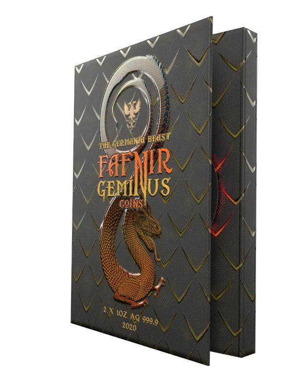 Germania 2020 2x5 Mark - Fafnir Geminus Set - Ice & Fire - 2 x 1 Oz Silver Coins