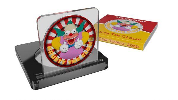 Tuvalu 2020 1$ Krusty The Clown-Classic Comedy 1 Oz Silver Coin
