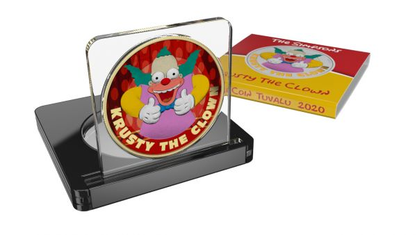 Tuvalu 2020 1$ Krusty The Clown-The Krusty Show 1 Oz Silver Coin Limited Edition