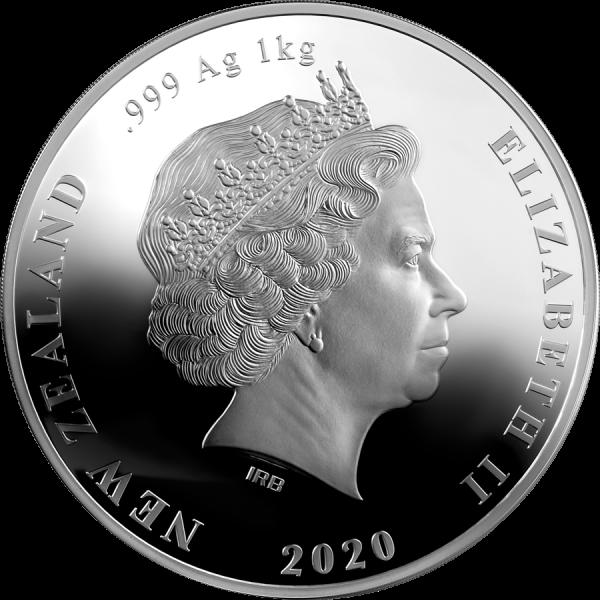 New Zealand 2020 20$ - Brown Kiwi Kilo - 1 kg 999 Silver Coin