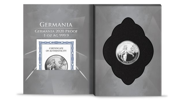 Germania 2020 5 Mark - Germania Proof - 1 Oz 999.9 Silver Proof Coin