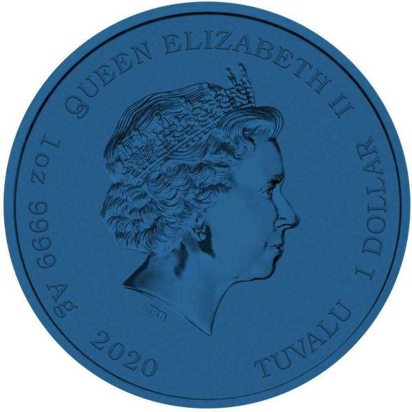Tuvalu 2020 1$ Bart Simpson Patriot 1 Oz Silver Colored Coin