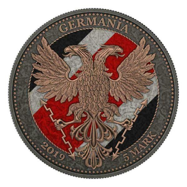 Germania 2020 5 Mark OAK LEAF Iron Cross 1 Oz Silver Coin