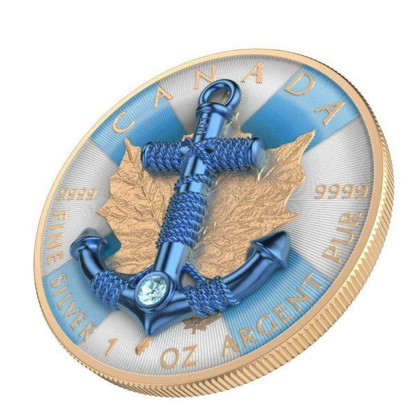 Canada 2019 5$ Maple Leaf - Anchor 1 Oz Silver Coin