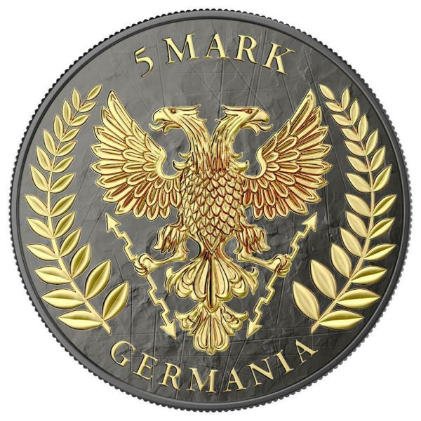 Germania 2019 5 Mark GERMANIA Crystal Cross 1 Oz Silver Coin