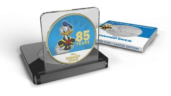 Niue 2019 $2 - Donald Duck 85 Years - Gilded Version 1 Oz Silver Coin