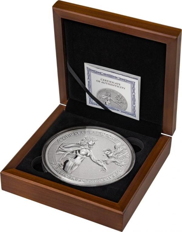 Germania 2020 80 Mark - Germania 1 Kilo - 1 kg 999.9 Silver Coin