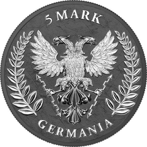 Germania 2020 5 Mark GERMANIA Iron Cross 1 Oz Silver Coin