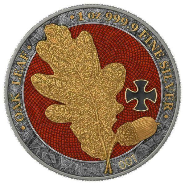 Germania 2019 5 Mark OAK LEAF Golden Cross 1 Oz Silver Coin