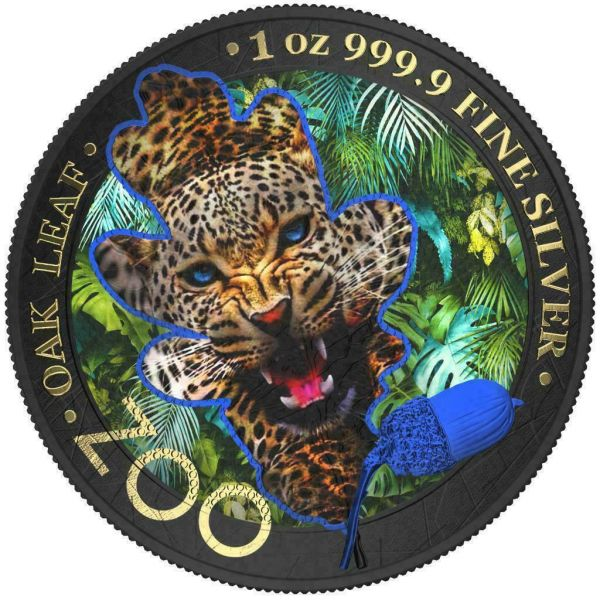 Germania 2019 5 Mark The Oak Leaf - Zoo Series - Jaguar - 1 Oz Silver Coin
