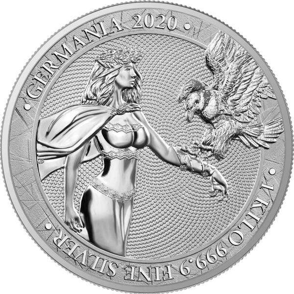 Germania 2020 80 Mark - Germania 1 Kilo - 1 kg 999.9 Silver Coin