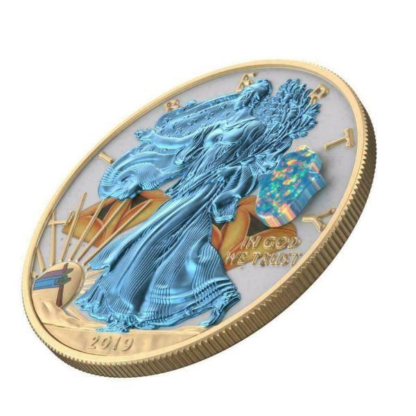 USA 2019 $1 Silver Eagle Jewish Holidays PURIM 1 Oz Silver Coin