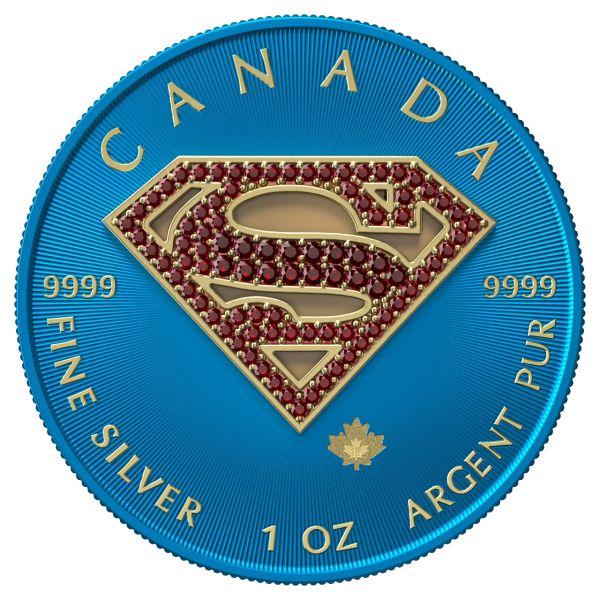 Canada 2016 5$ - Superman Space Blue & Crystals - 1 Oz Silver Coin